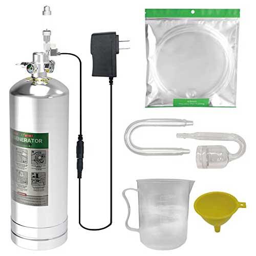 4L Aquarium CO2 Generator System Carbon Dioxide Reactor Kit with Regulator and Needle Valve