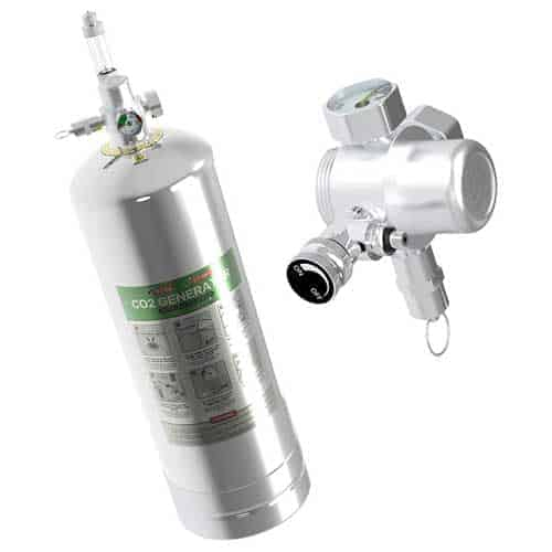4L Aquarium CO2 Generator System Carbon Dioxide Reactor Kit with Regulator and Needle Valve for 600-800g Raw Material